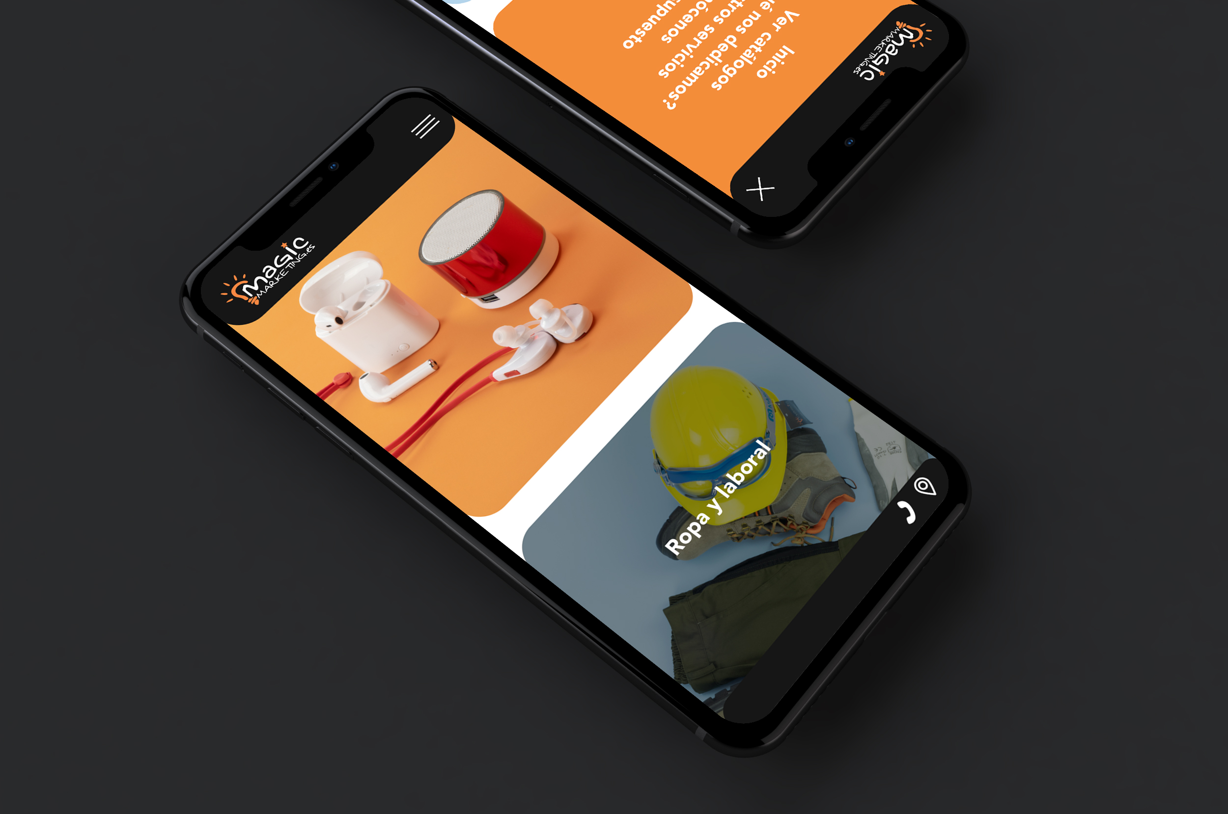 diseño de sitios web móviles con fotografía de producto a medida