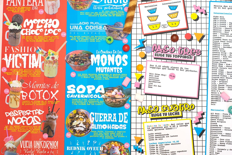 Fotografía a medida de productos en diseño de menú para cafe
