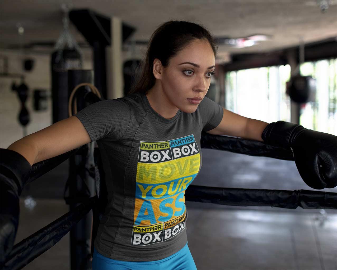 diseño de ropa deportiva brillante en boxeador joven