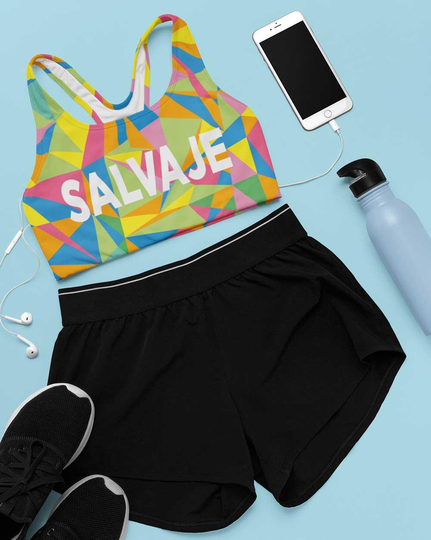 sesión de fotos de ropa deportiva, incluido el diseño de sujetador deportivo