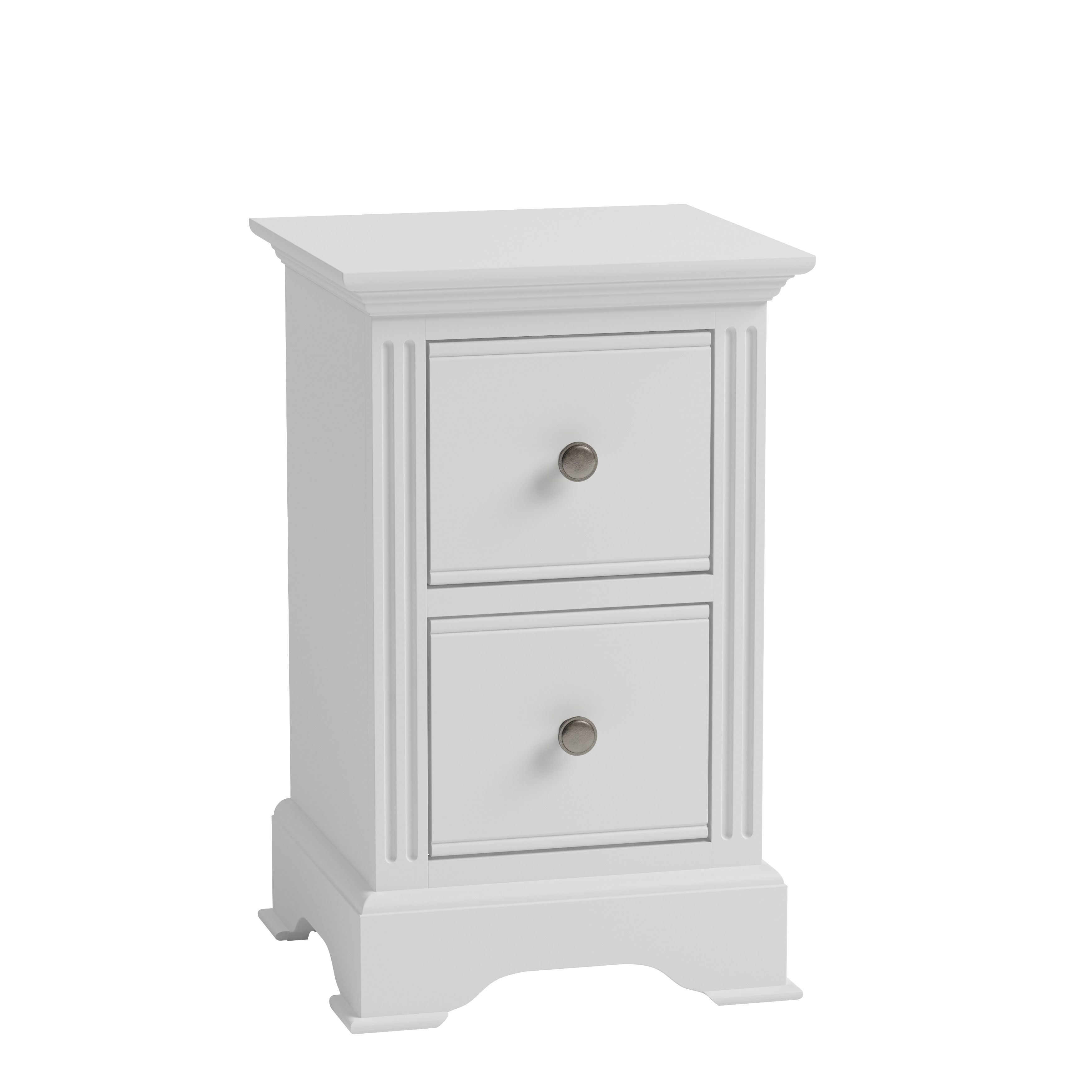 EIFFLE WHITE - Small Bedside Cabinet