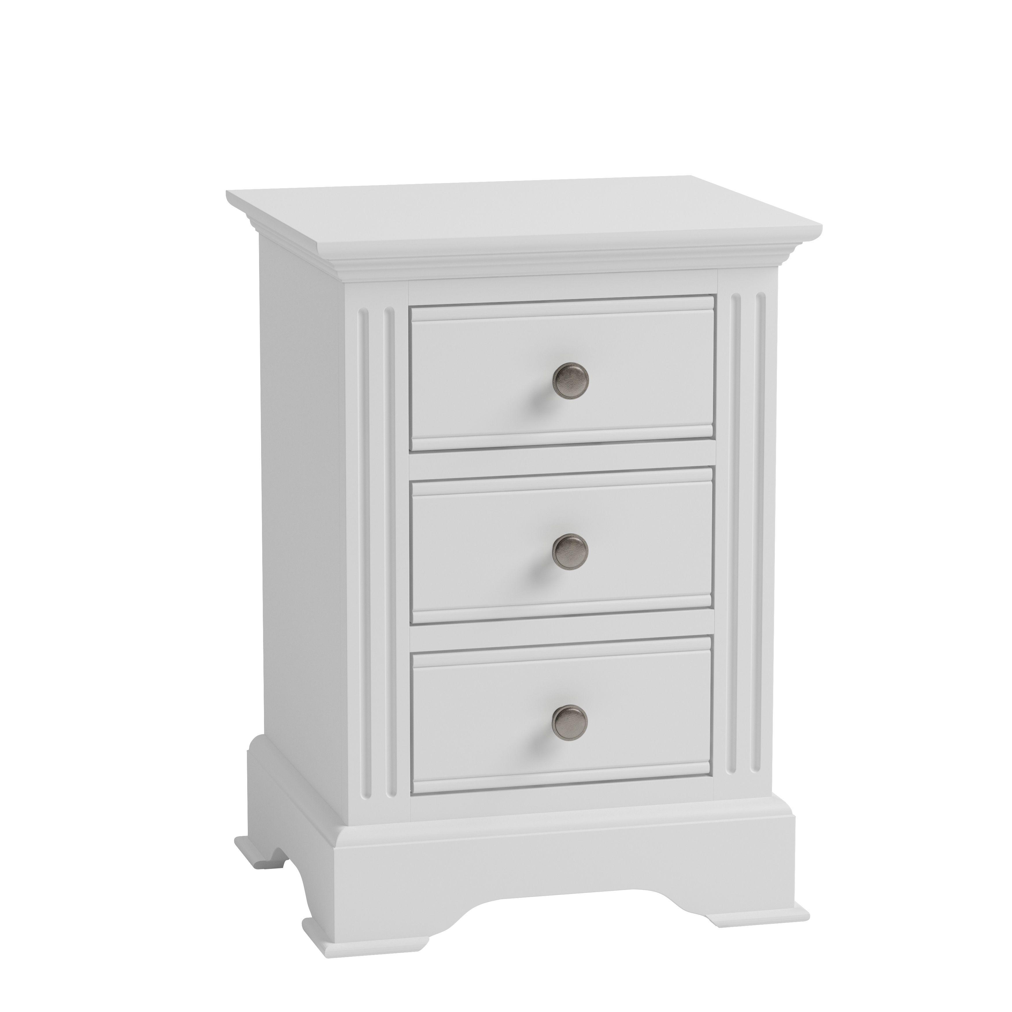 EIFFLE WHITE - Large Bedside Cabinet