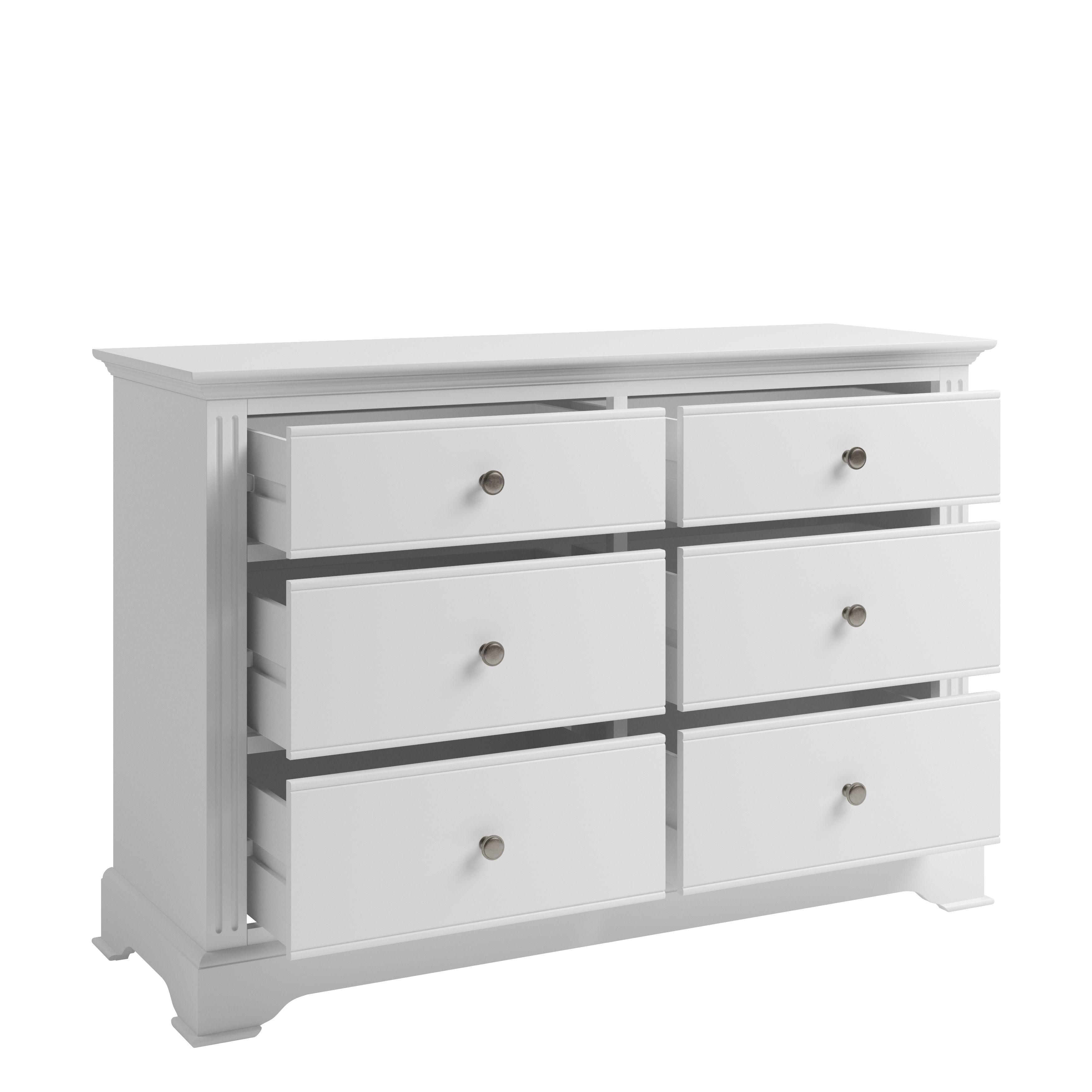 EIFFLE WHITE - 6 Drawer Chest