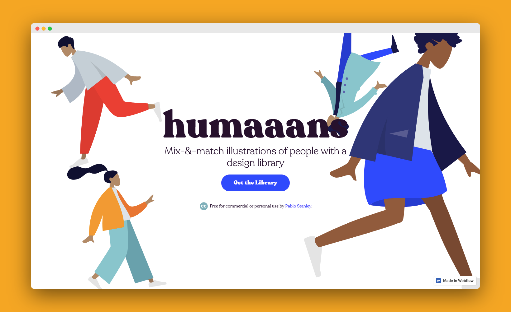 Mix-&-match illustrations of people with a design library