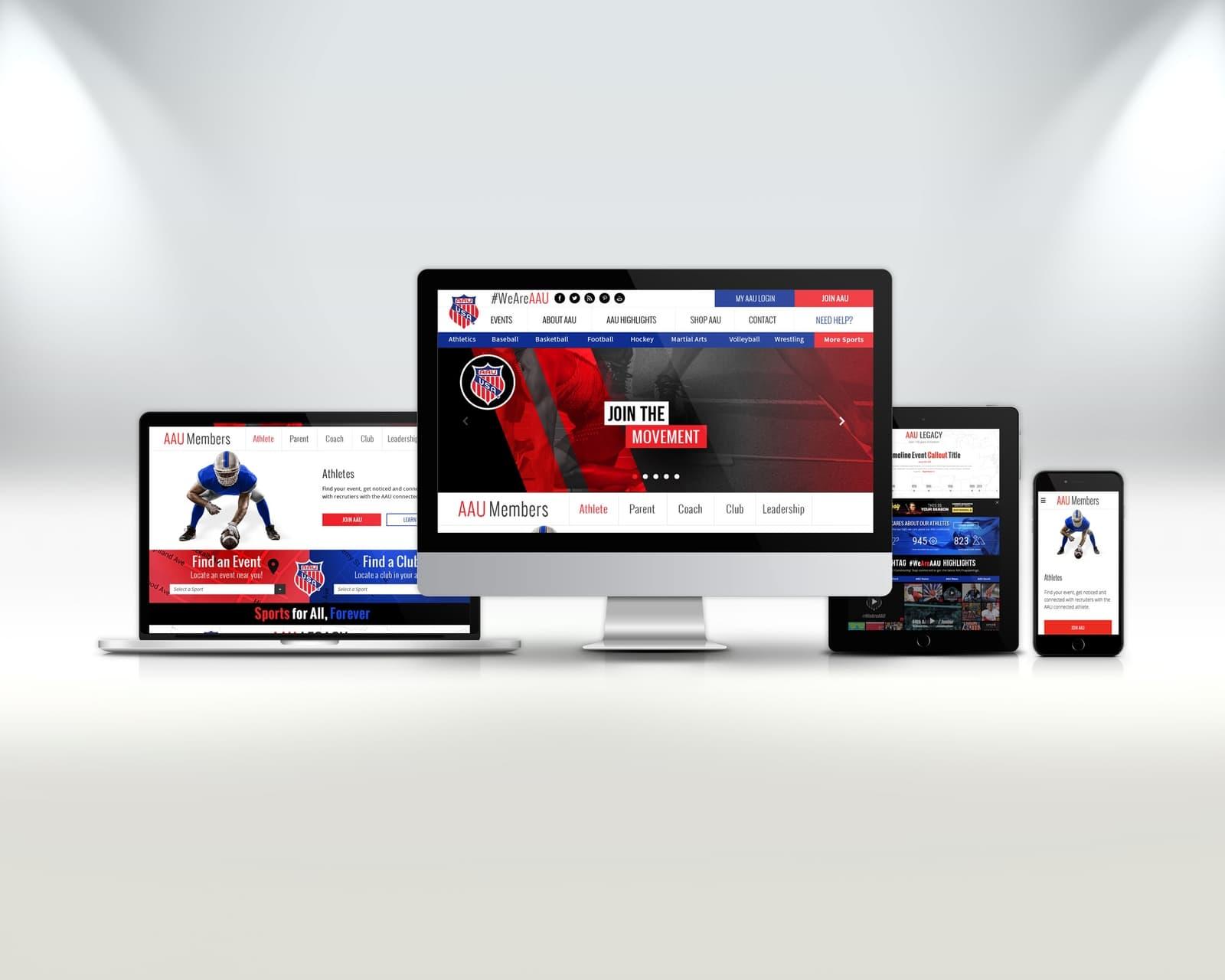 AAU sports website
