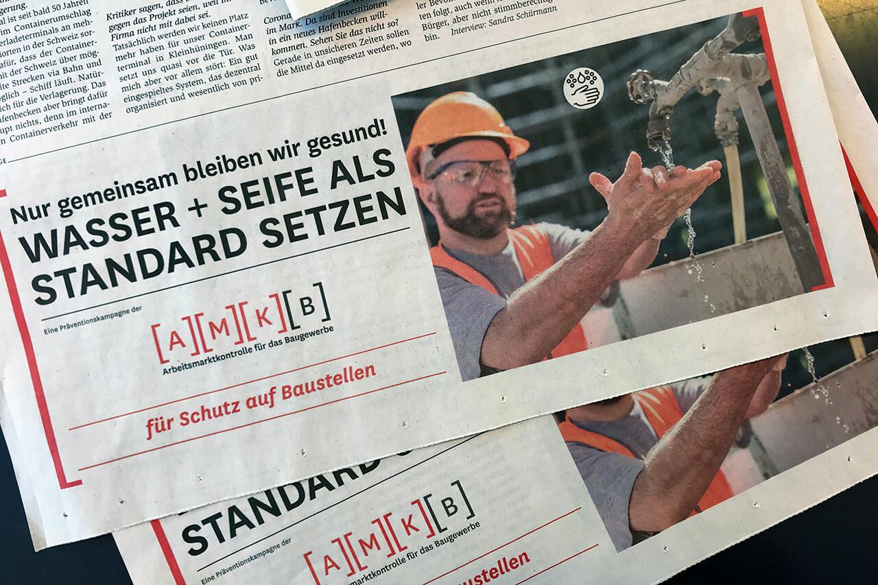 Zeitungsinserat / Kampagne der AMKB