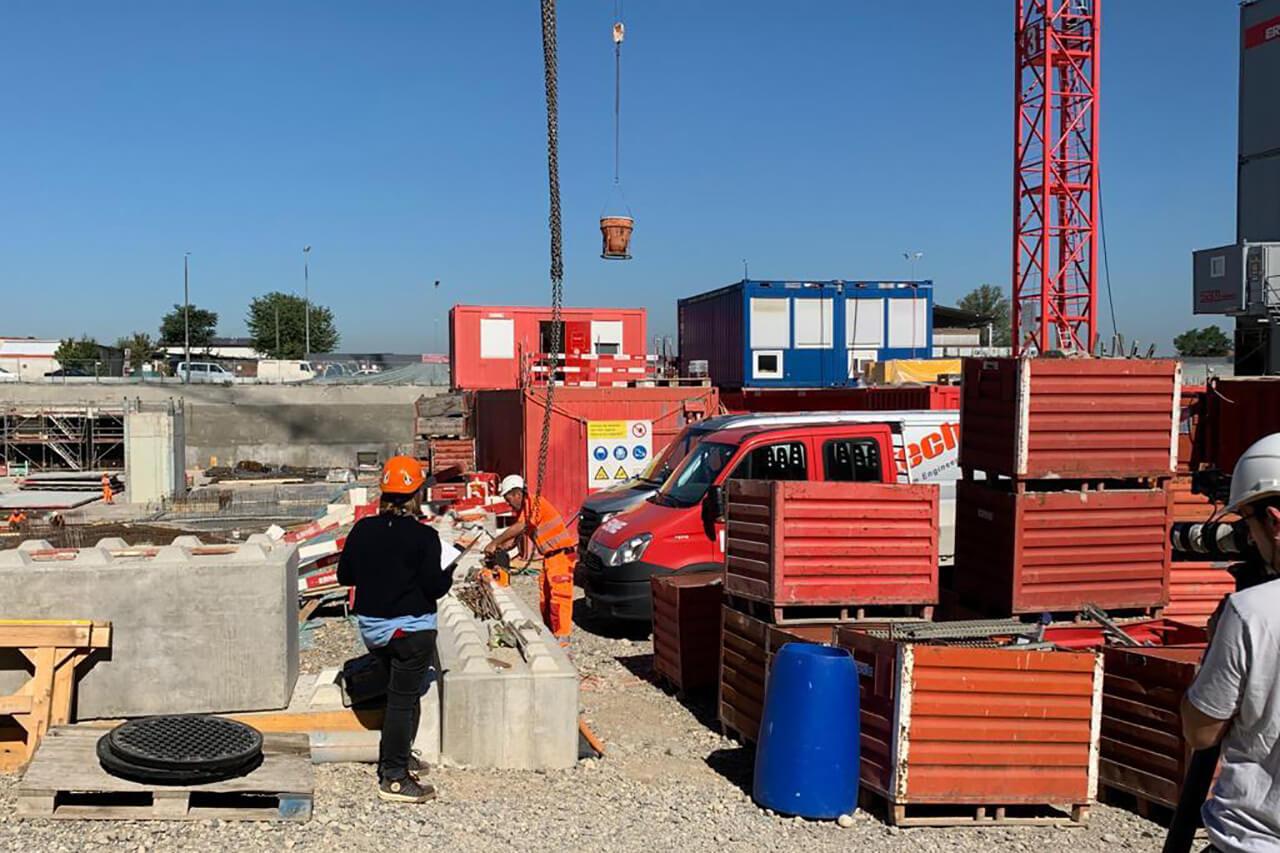 Aufnahme einer Baustelle, entstanden während einer Baustellenkontrolle der AMKB