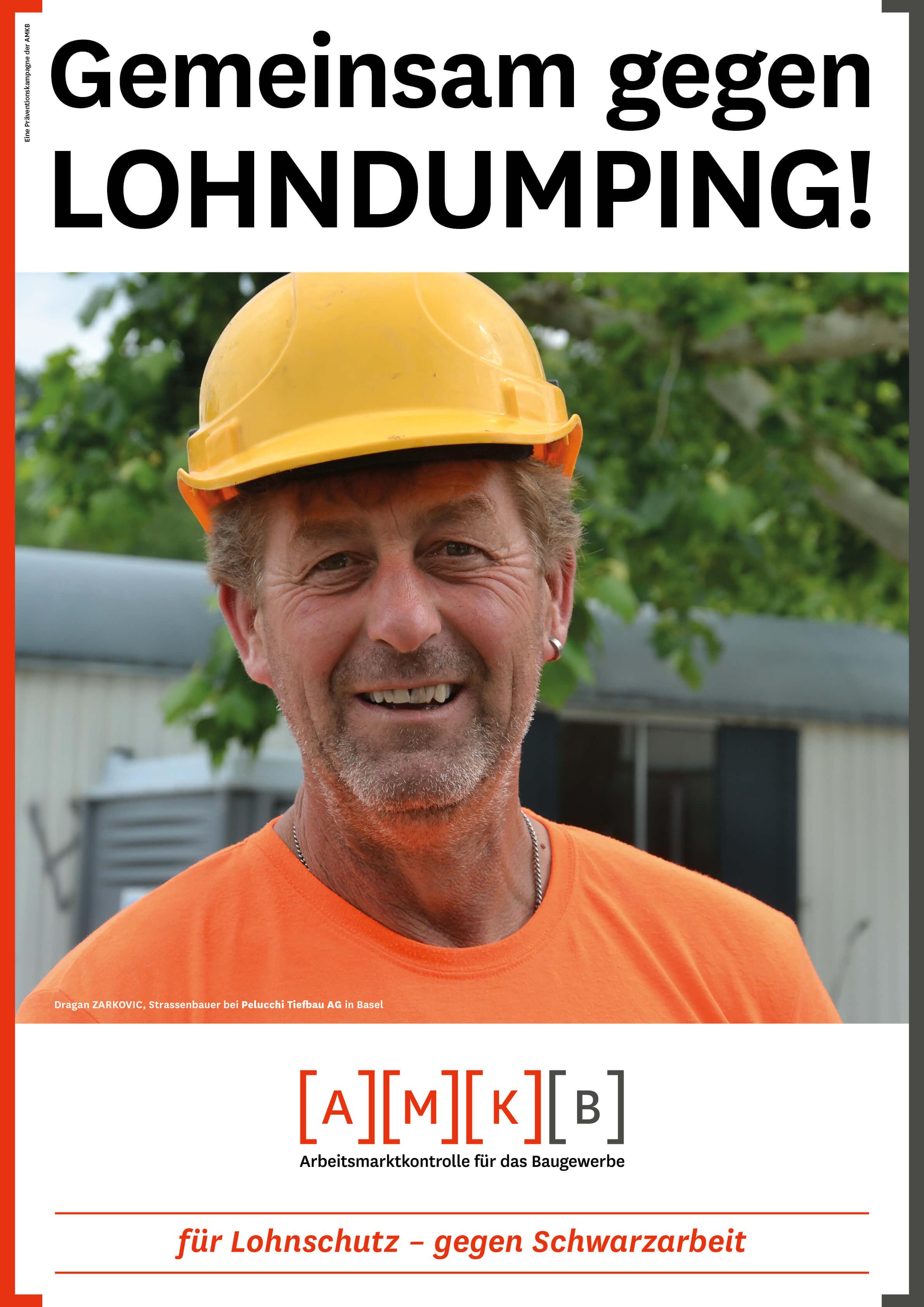 AMKB - Präventionskampagne - Gemeinsam schaffen wir gleich lange Spiesse! - Lohndumping