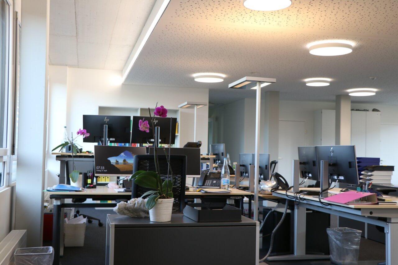 Büroräumlichkeiten der AMKB in Pratteln