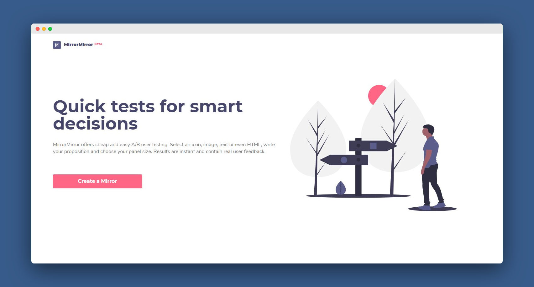 Quick tests for smart decisions