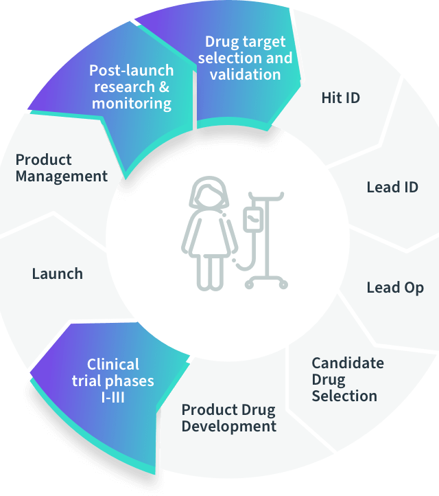 Drug development stages diagram