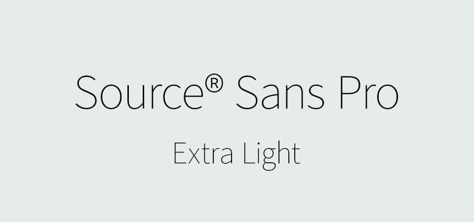 Source Sans Pro Extra Light