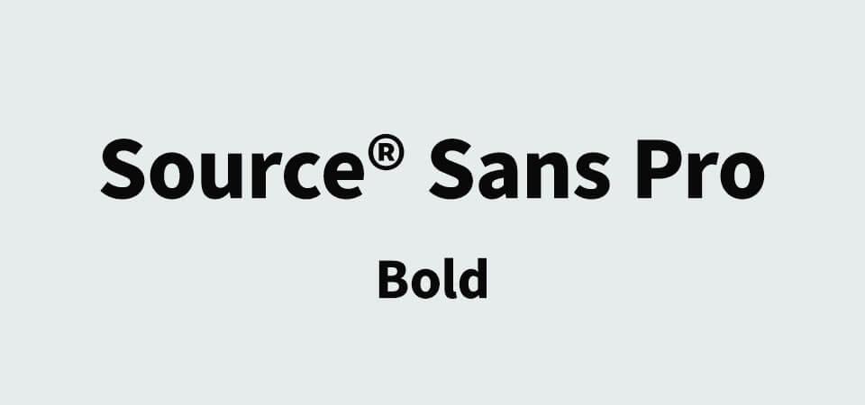 Source Sans Pro Bold