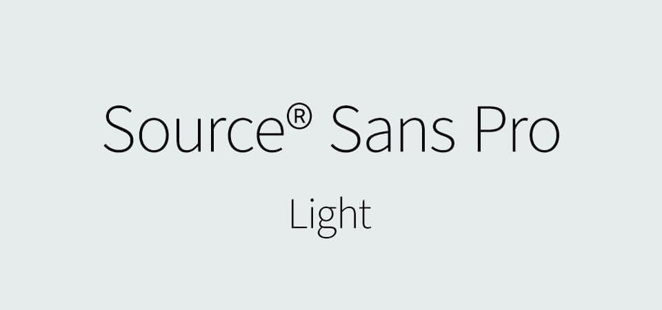 Source Sans Pro Light