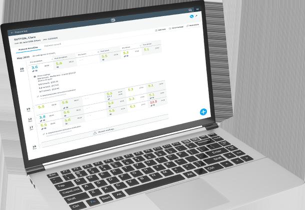 Clinician's desktop app