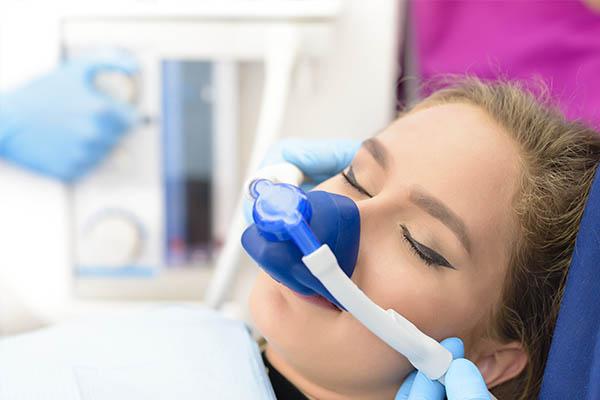 woman being sedated