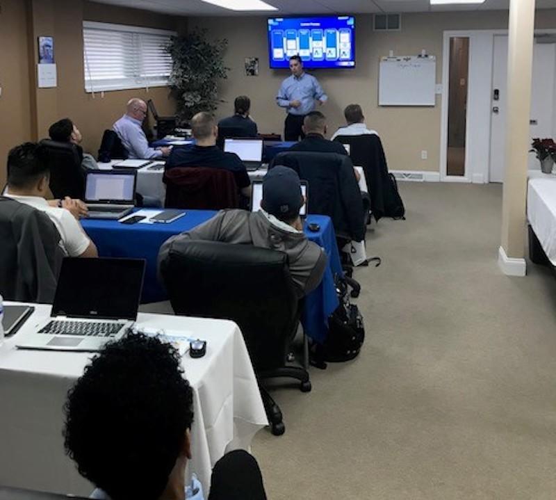 Asset Vue founder giving training session