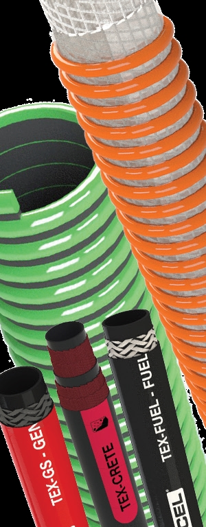 Assortment of industrial hose