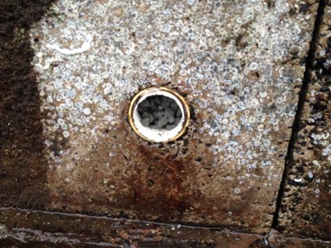 Corrected weephole