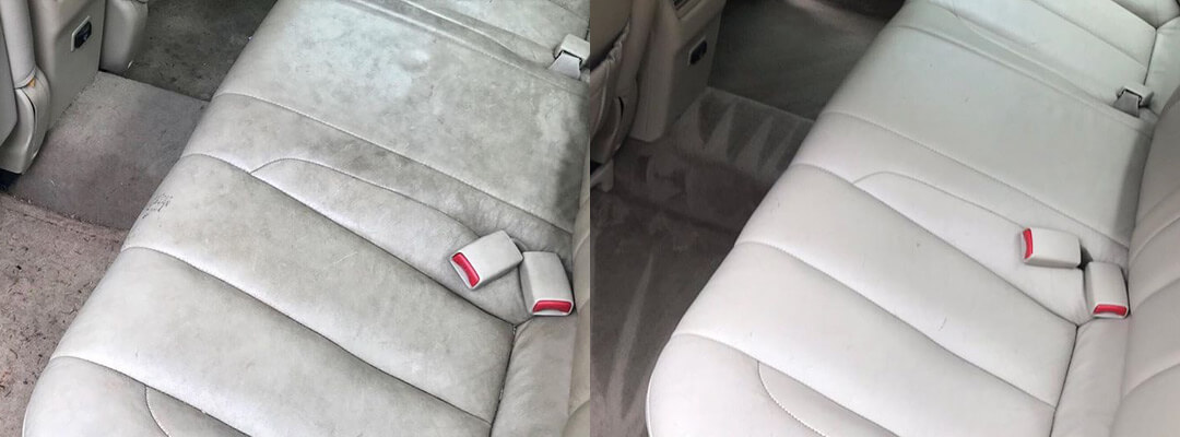 Before and after of auto detailing in Kansas City