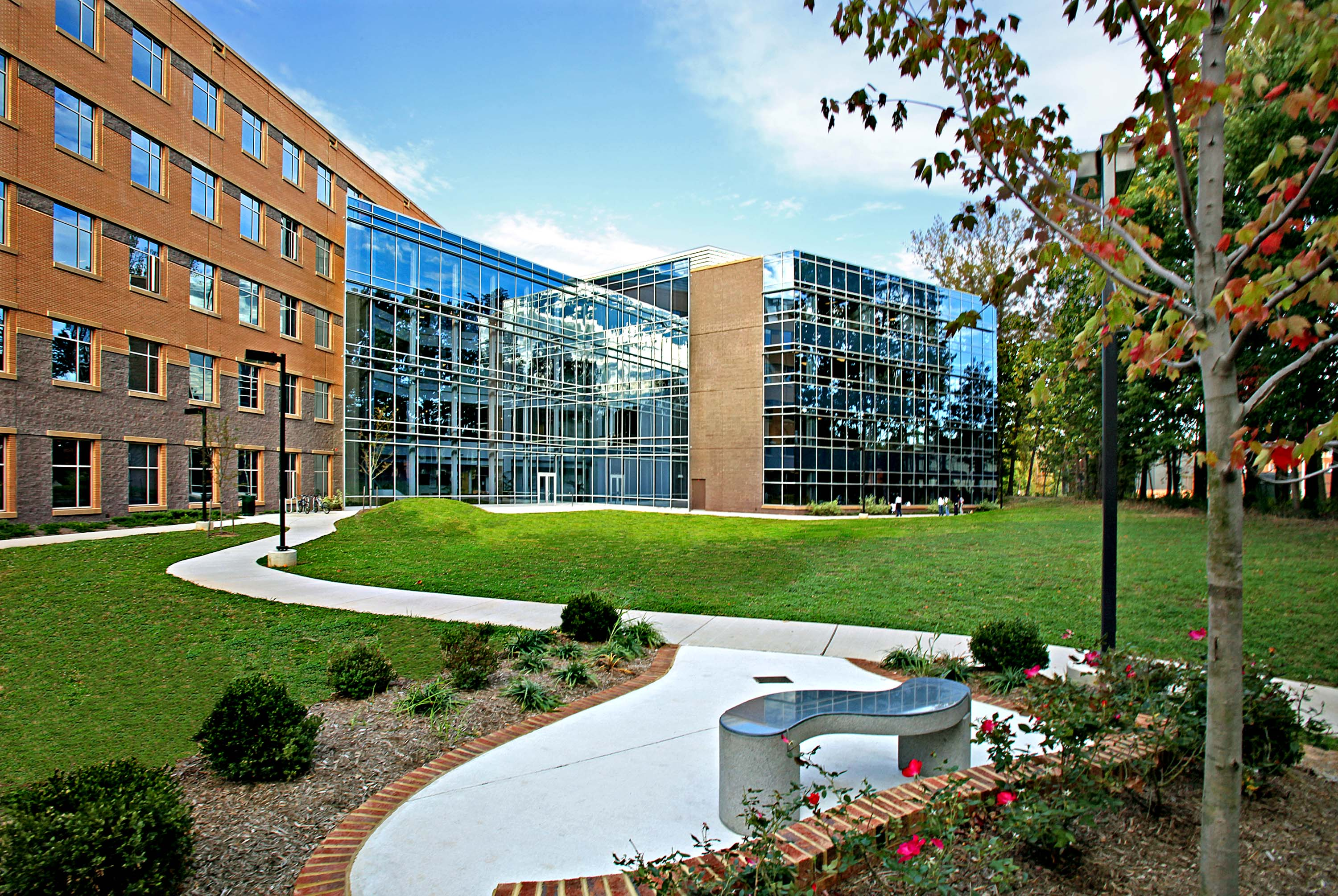 This past month, faculty and staff of the Volgenau School of Information Technology and Engineering moved into their new home at George Mason University - now the largest academic building on the Fairfax campus.