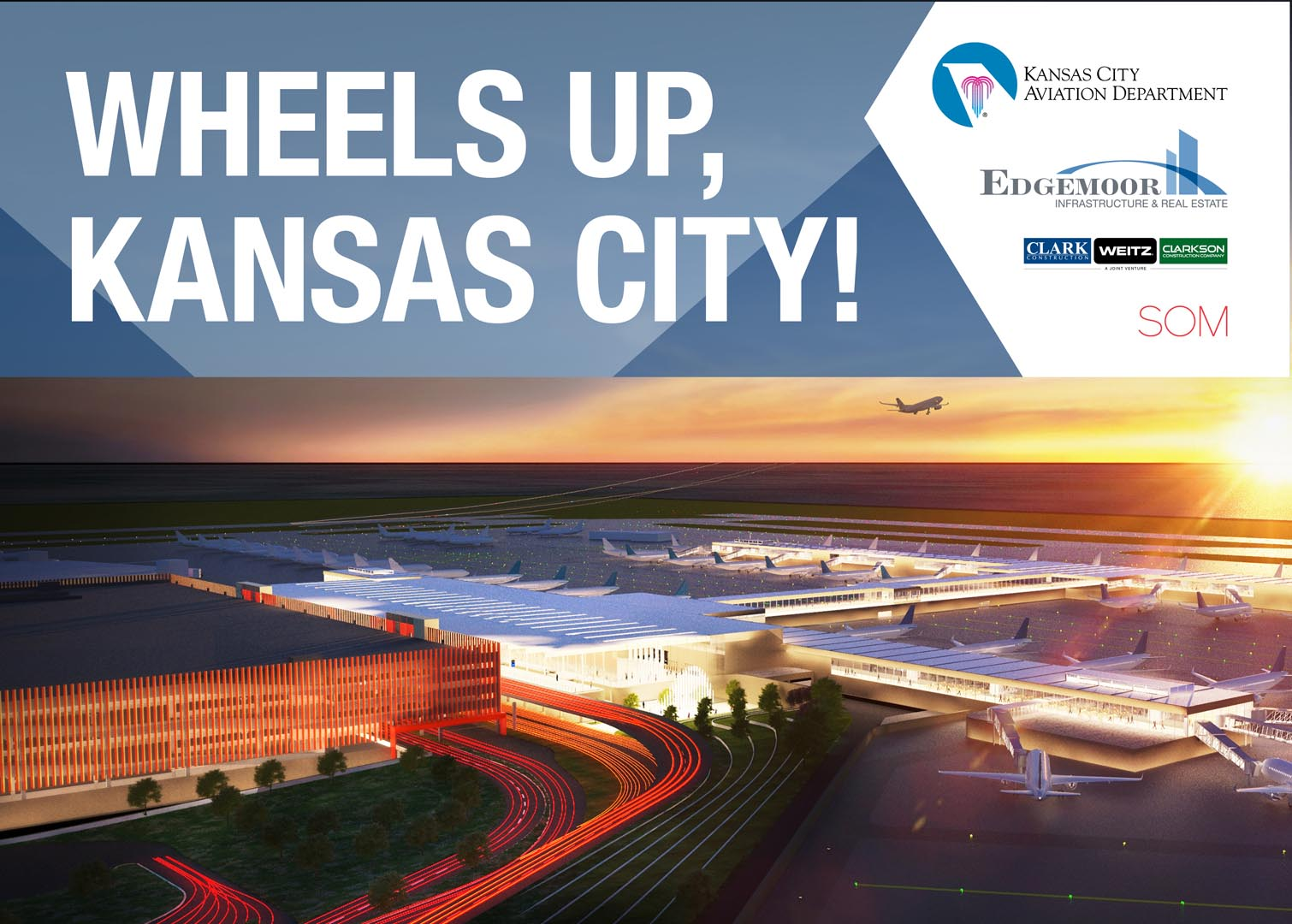 On the heels of the City Council's 11-1 vote in support of moving forward with the $1.5 billion project, the Kansas City Aviation Department and Edgemoor are pleased to announce plans for a groundbreaking celebration for the project later this month.