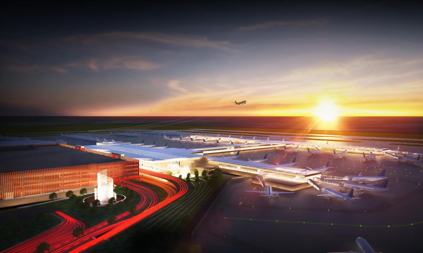 A modern new single terminal will soon take shape at Kansas City International Airport.