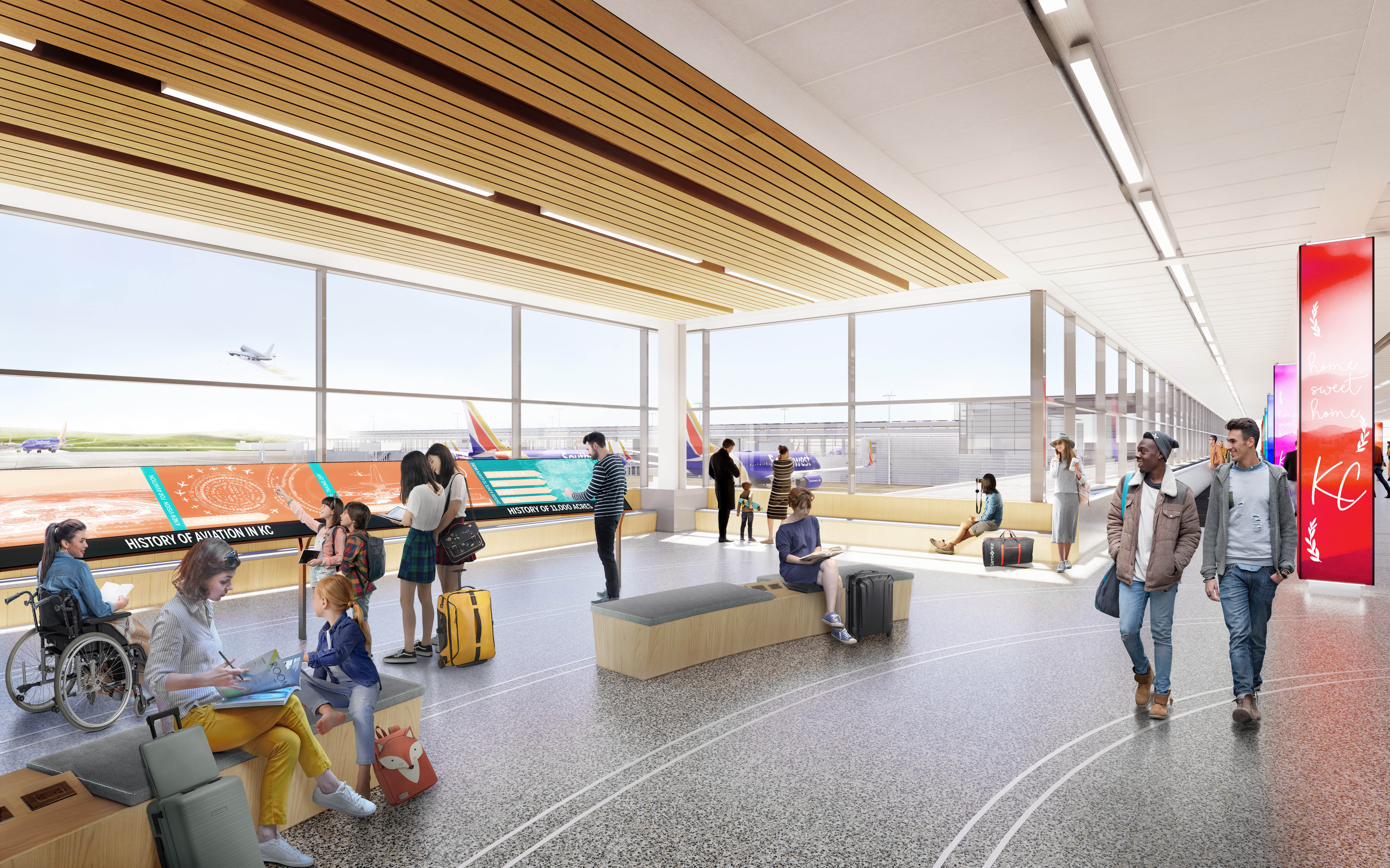 The KCI New Terminal Project is currently on budget and ahead of schedule.