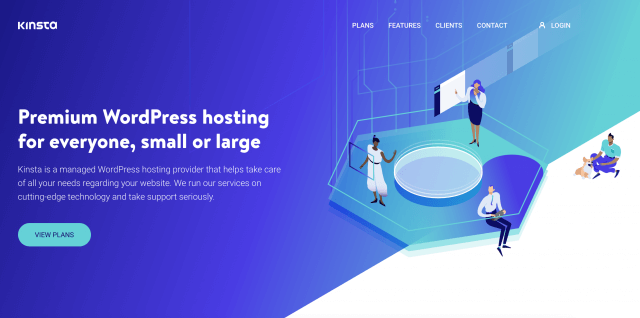 Kinsta homepage screenshot