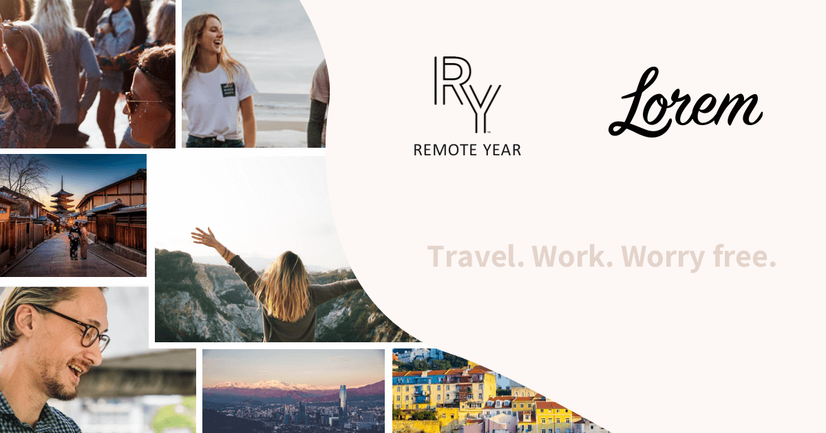 RemoteYear - Travel, Work. Worry Free.