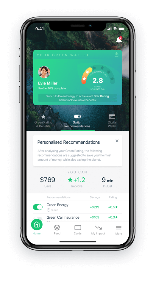 Green Wallet Phone App