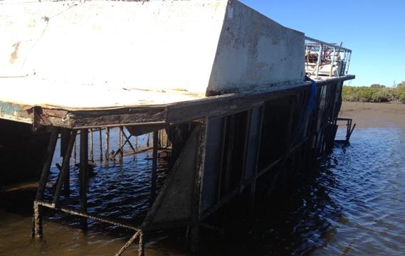 Sunken boat - marine salvage