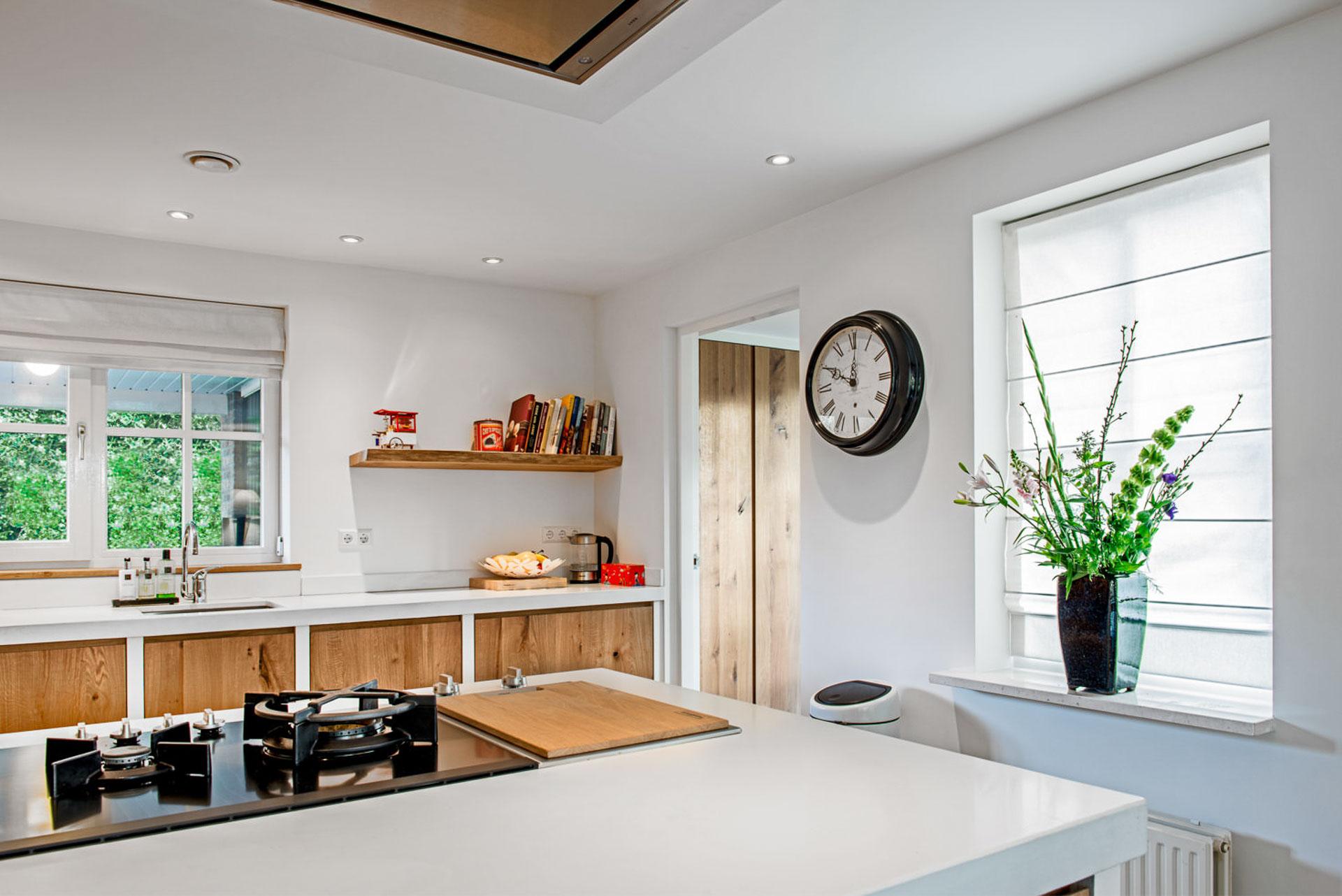 Massief wit eikenhouten keuken