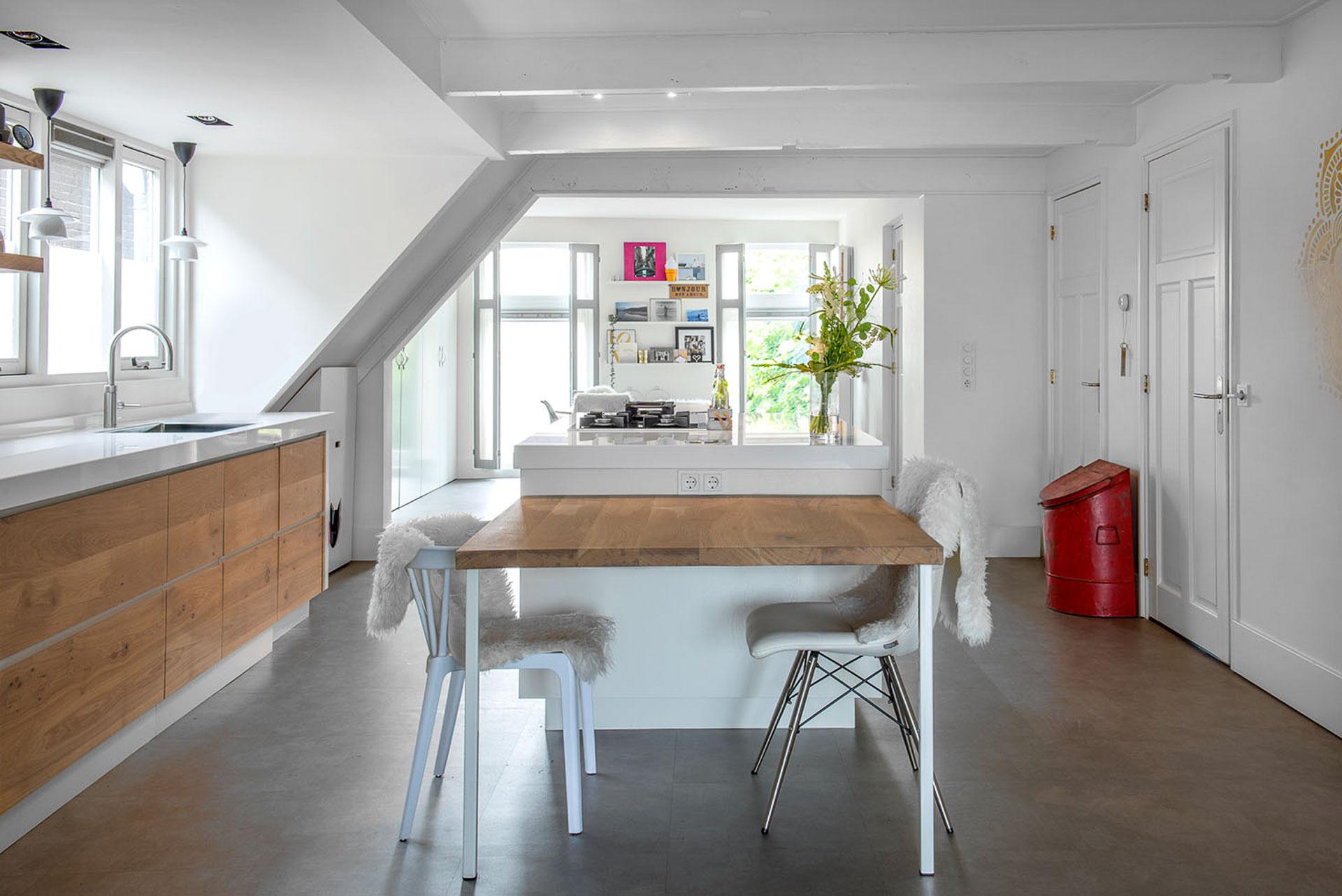 Op maat gemaakt modern wit eiken keuken