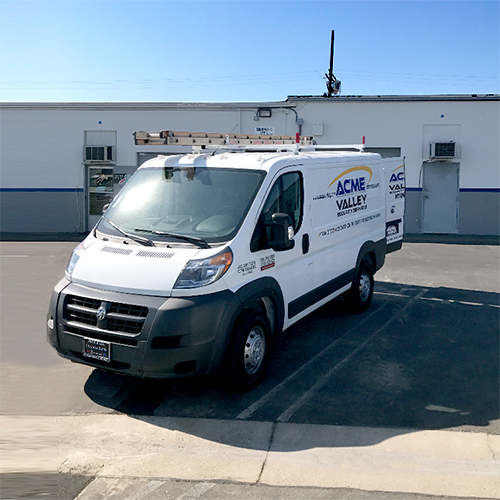 Picture of the Acme Valley Security Serives Truck