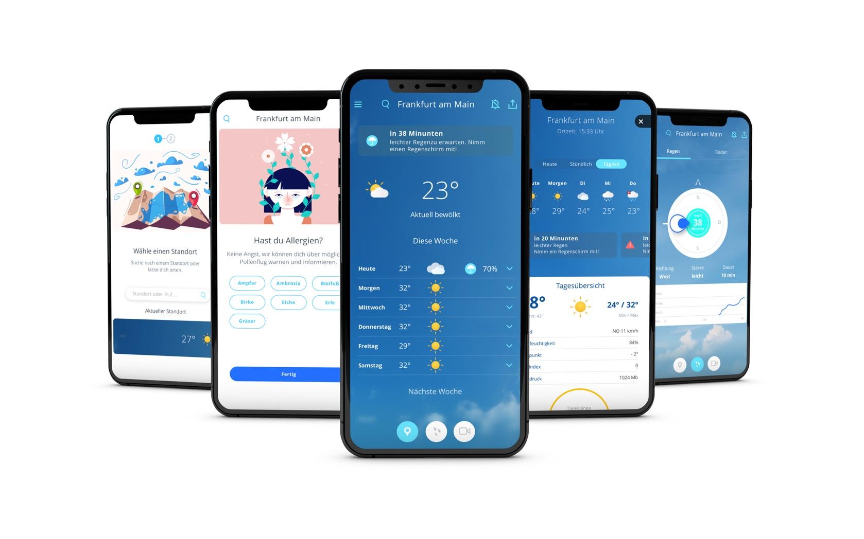 wetter.com concept app, ux/ui design