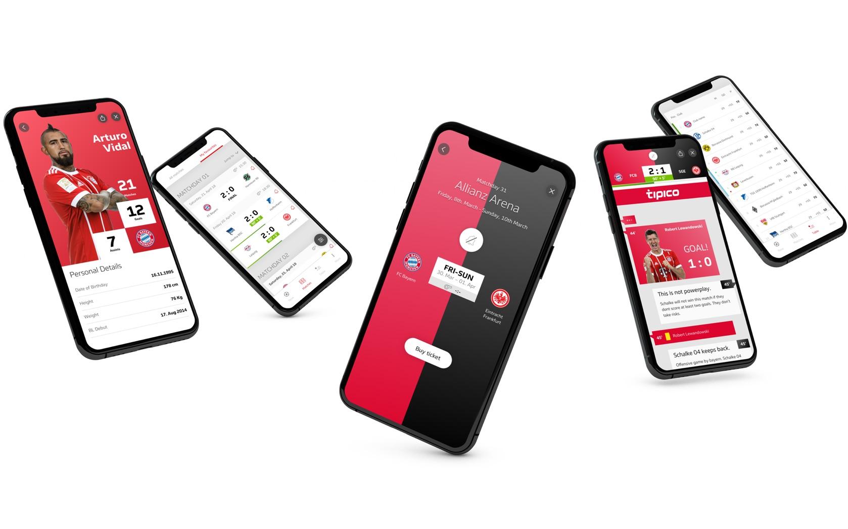 bundesliga app, ux/ui design