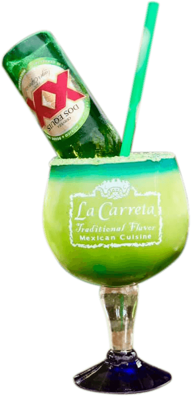 La Carreta's Mexican Disaster margarita with a beer inside.