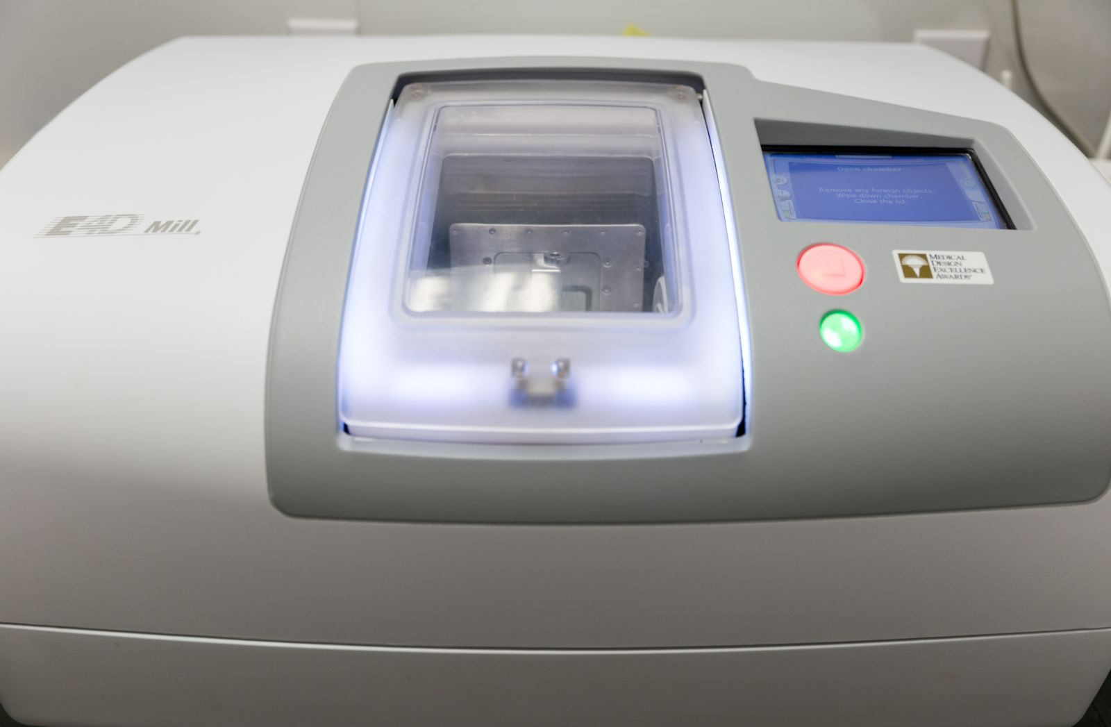 closeup of CEREC machine