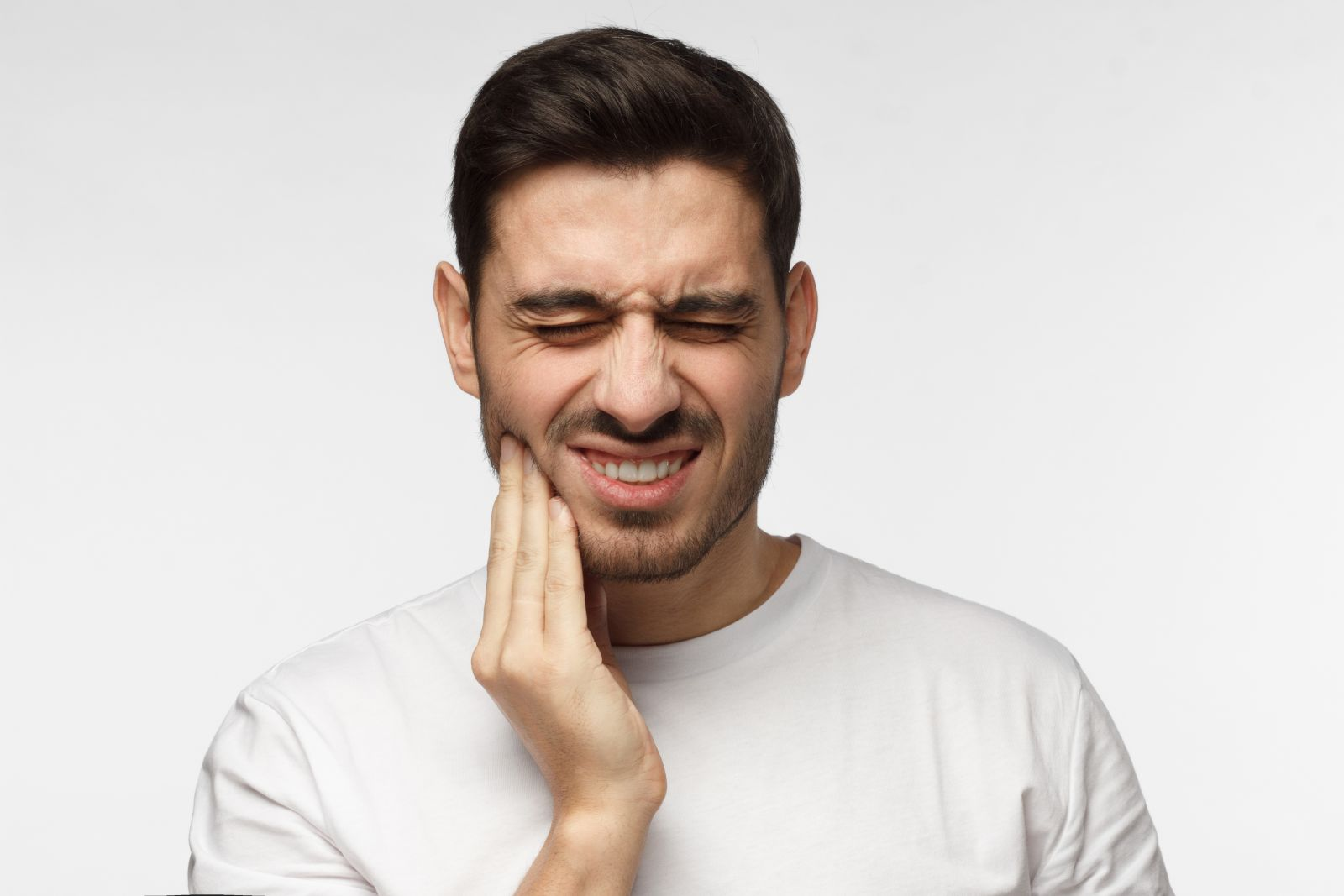 Male with jaw pain