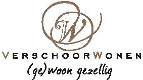 Logo Verschoor Wonen. (ge)woon gezellig.