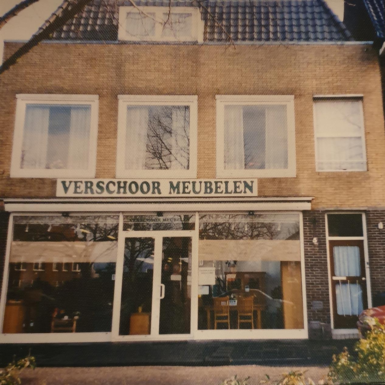 Oude showroom Verschoor Wonen in Sliedrecht.