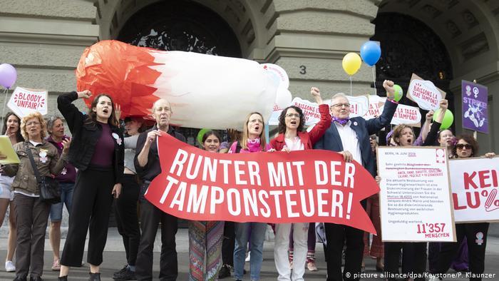 Hygieneartikel Tampon l Tamponsteuer l Frauenstreik in der Schweiz