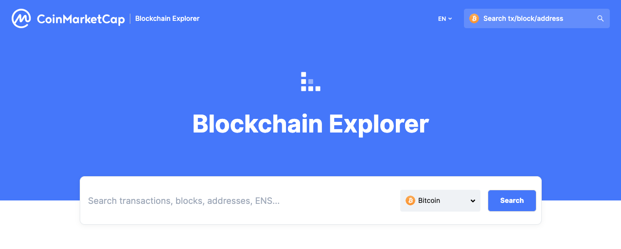 Blockchain Explorer Guide | CoinMarketCap