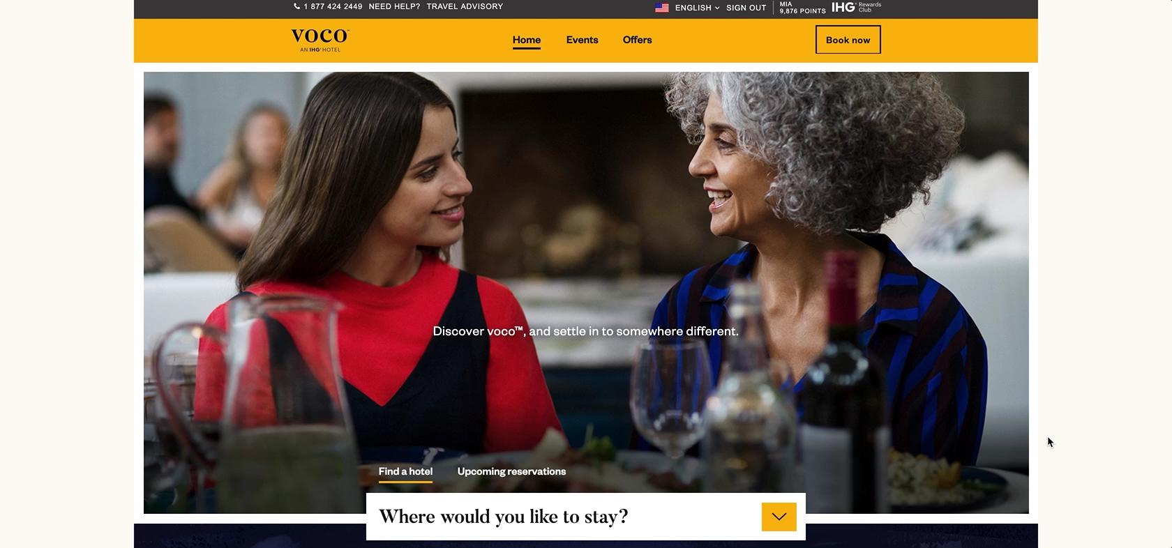 A screenshot of voco, a Webflow prototype I built
