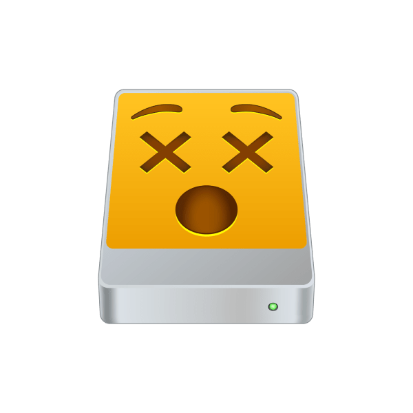 An emoji of a dead disk drive.