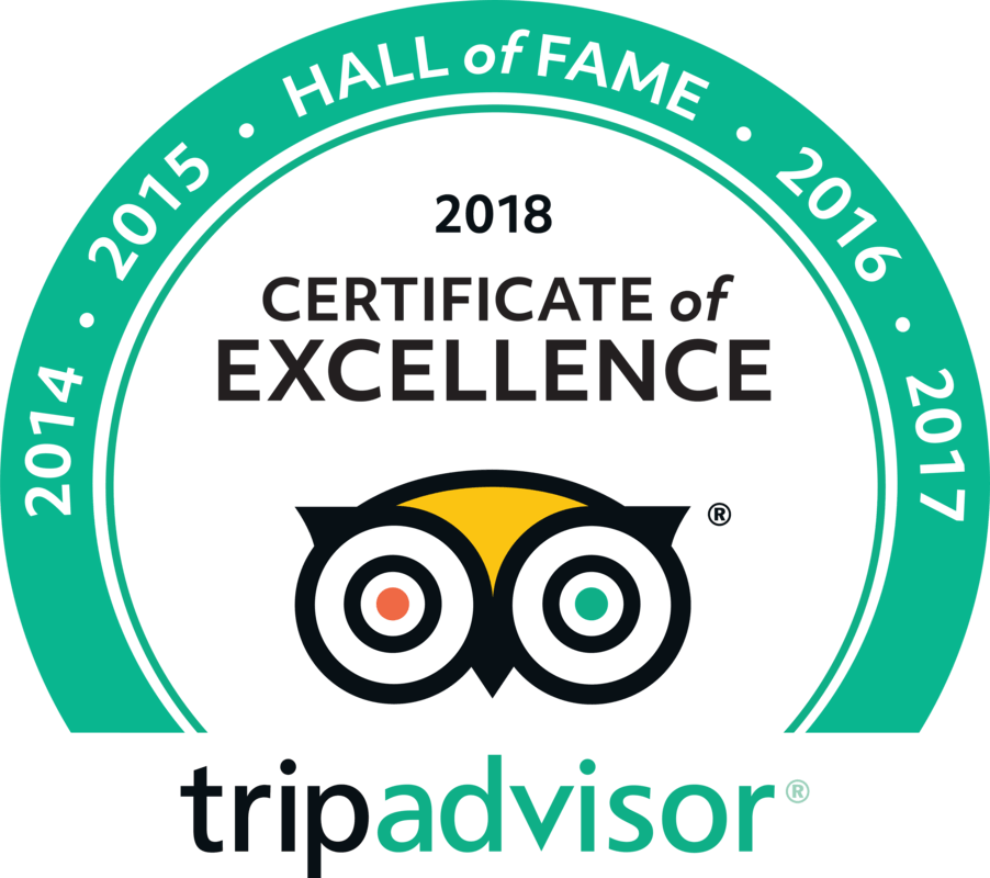 Award for Trip Advisor hall of fame