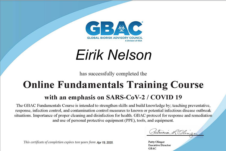 covid 19 training certified
