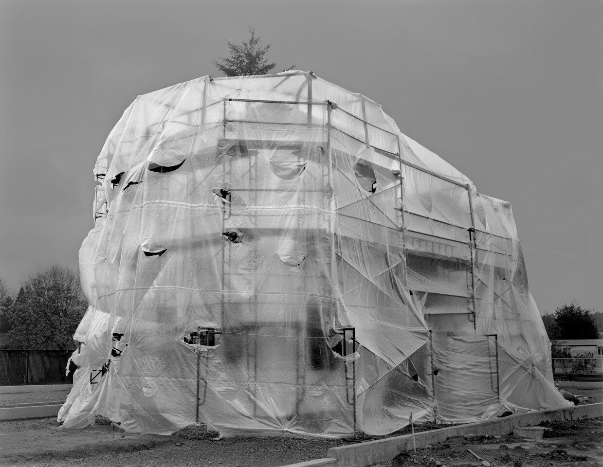 Sheltered on SE 82nd Ave; Portland, Oregon by Loren Nelson