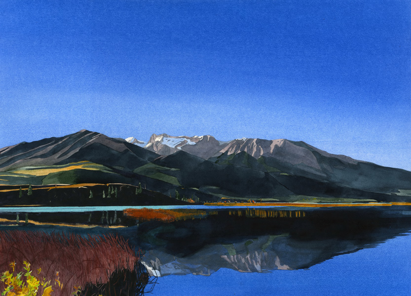 Eva Bartel Morning, Talbot Lake, Jasper